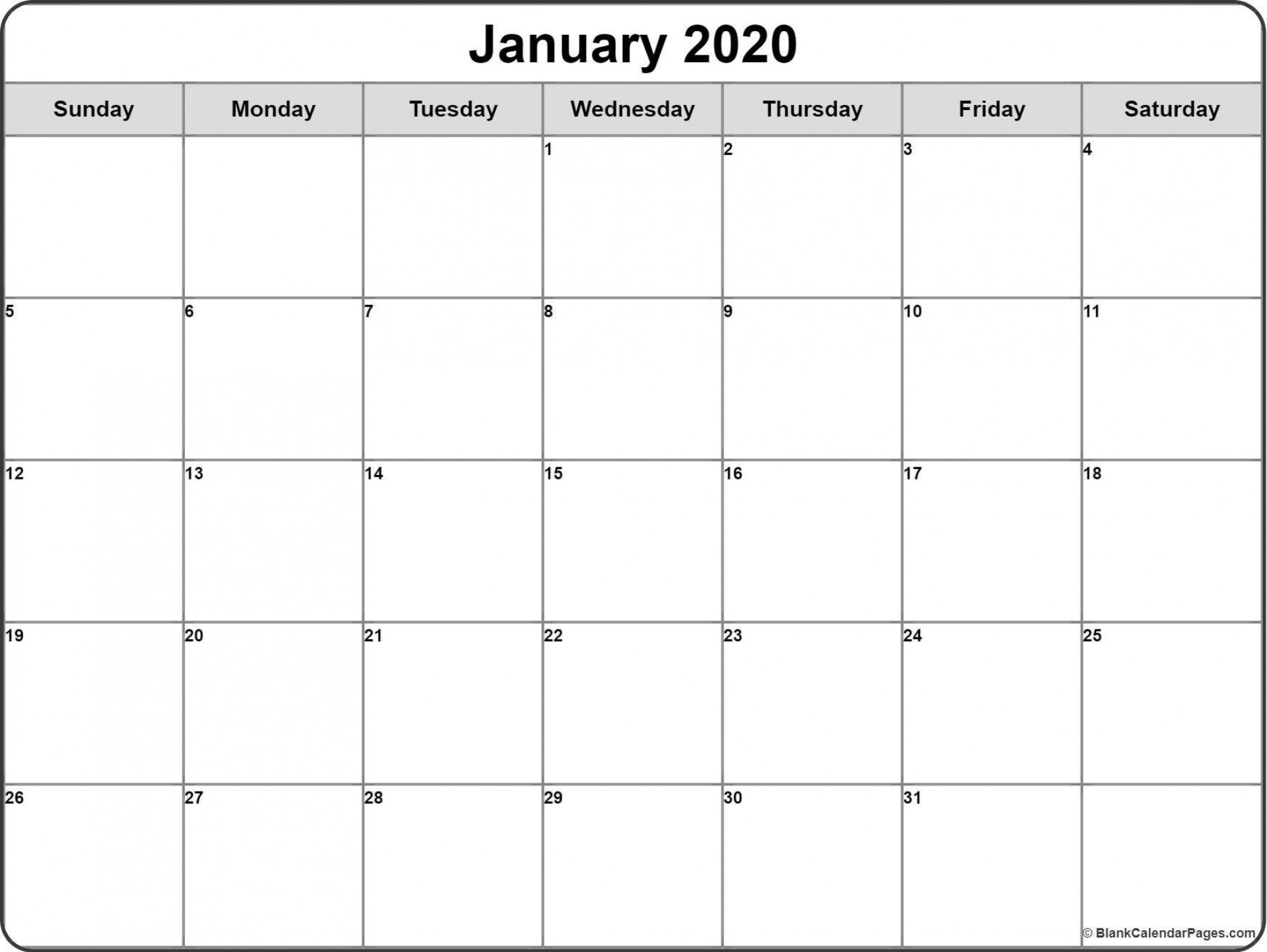 001 Surprising Printable Blank Monthly Calendar Template High Definition  Pdf1920
