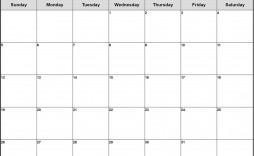 001 Surprising Printable Blank Monthly Calendar Template High Definition  Pdf