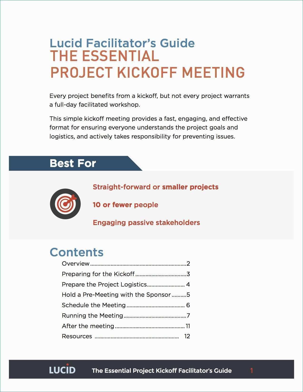 001 Surprising Project Kickoff Meeting Agenda Template Sample  ManagementFull