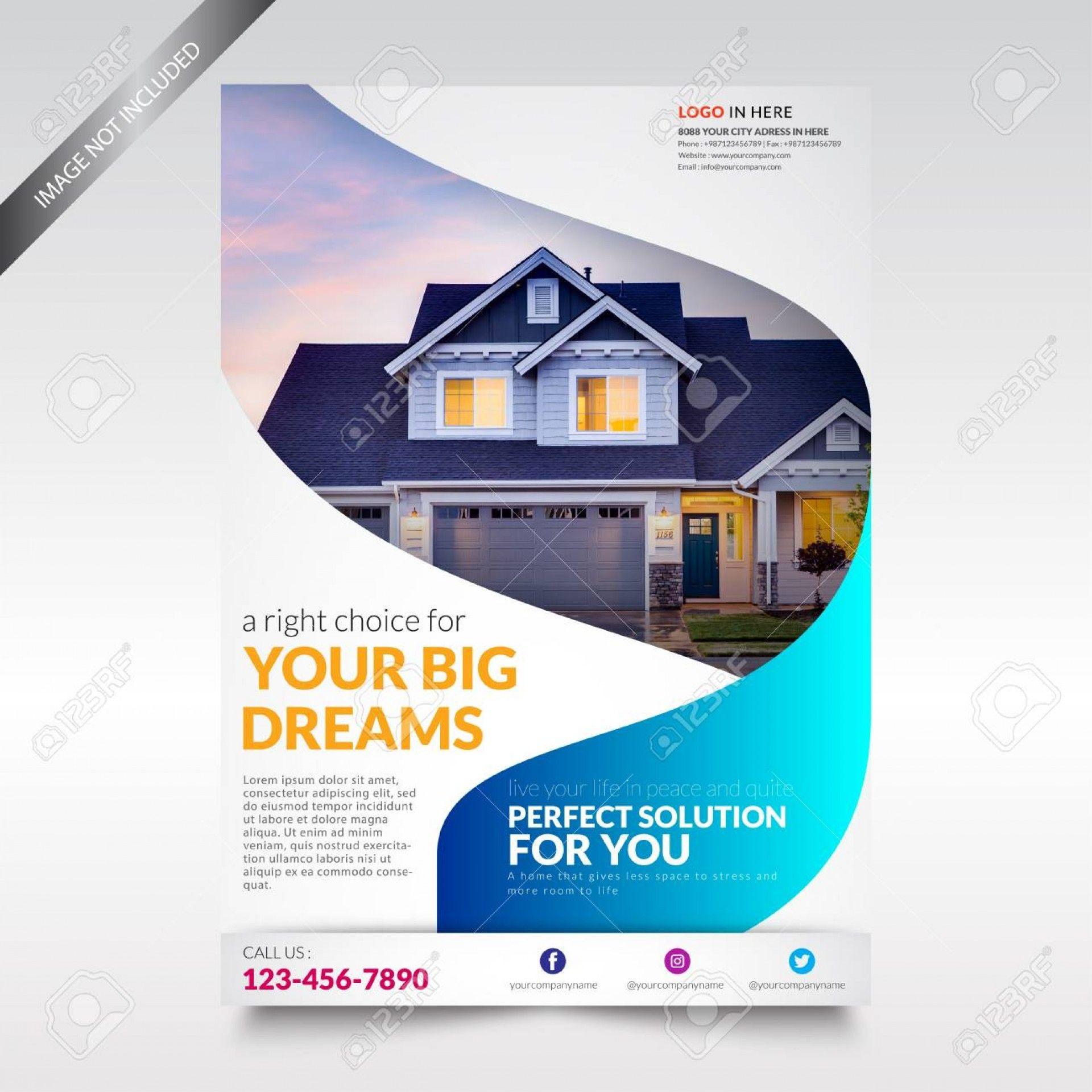 001 Surprising Real Estate Flyer Template Free Picture  Publisher Commercial Pdf DownloadFull
