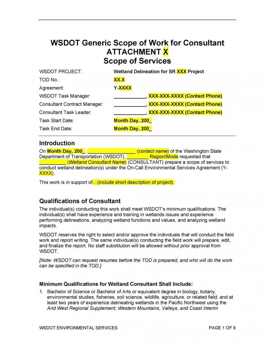 001 Surprising Sample Statement Of Work Consulting Service High Resolution 868