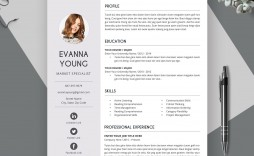 001 Surprising Simple Professional Cv Template Word Photo