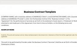 001 Surprising Term Of Agreement Template Highest Quality  Service Contract Busines Uk