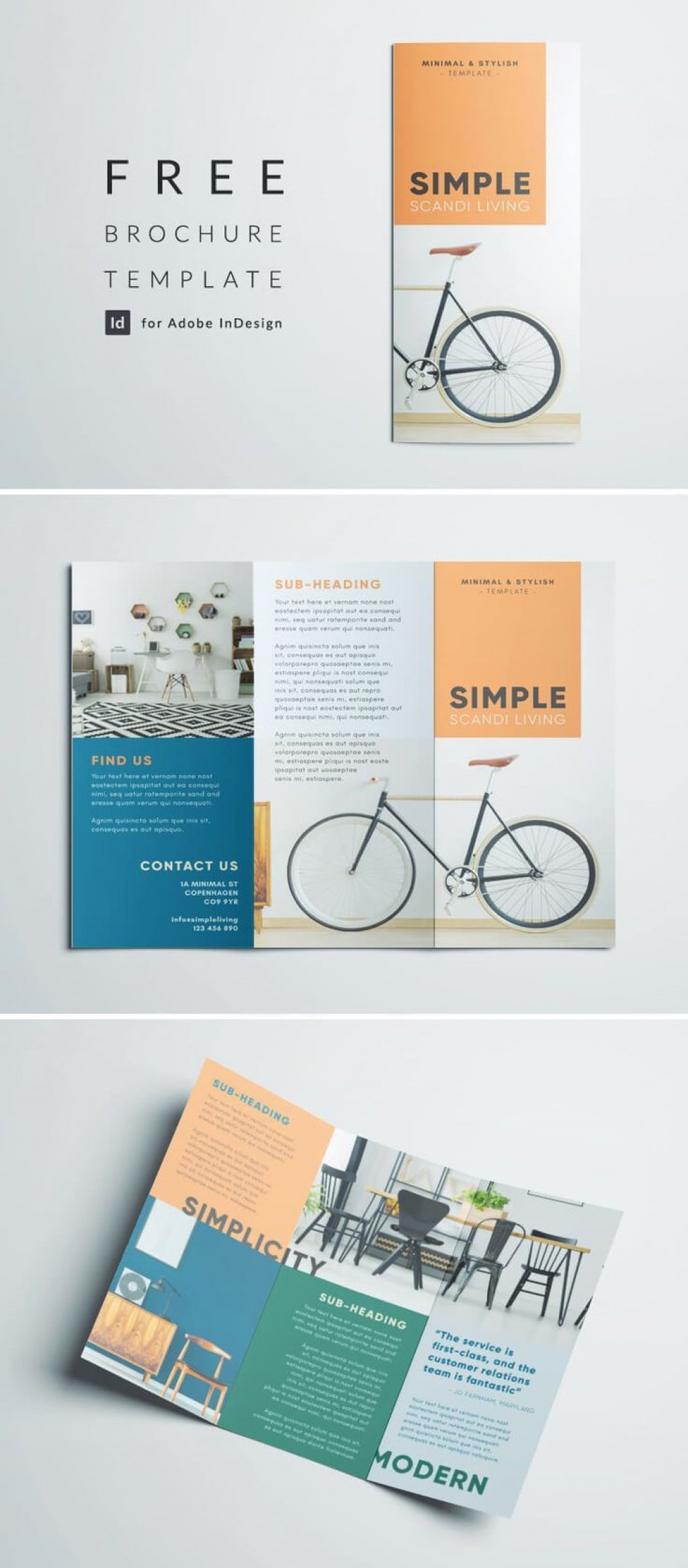 001 Surprising Three Fold Brochure Template Indesign Design  3 A4Large