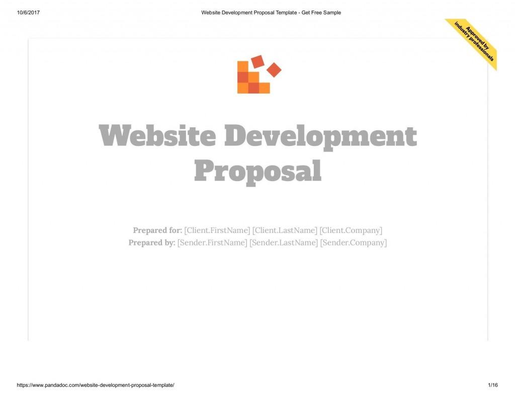 001 Surprising Website Development Proposal Template Free Example  WordLarge