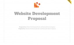 001 Surprising Website Development Proposal Template Free Example  Word