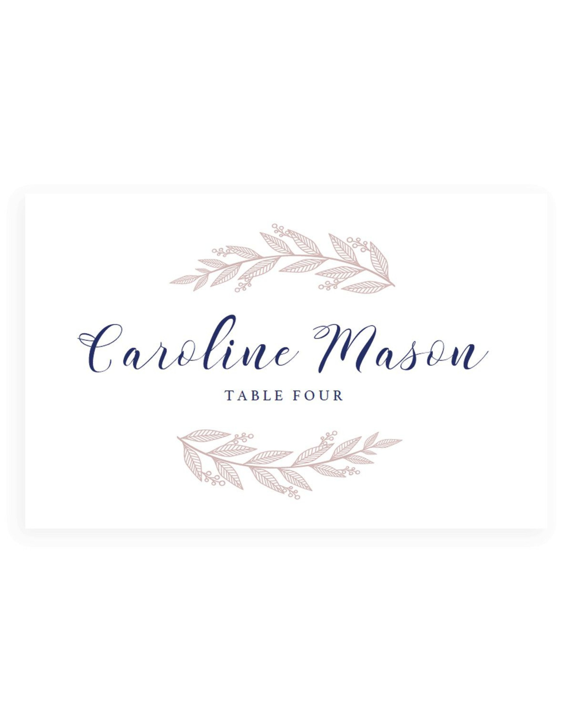 001 Surprising Wedding Name Card Template High Def  Templates For Table Place Free1920