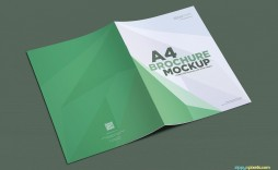001 Top A4 Brochure Template Psd Free Download Highest Clarity  Tri Fold Bifold