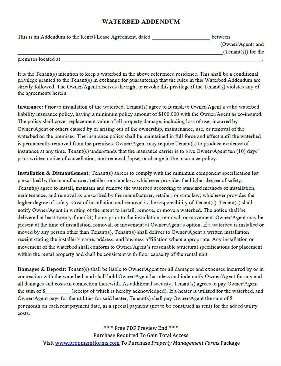 001 Top Addendum Form For Rental Agreement Idea Full