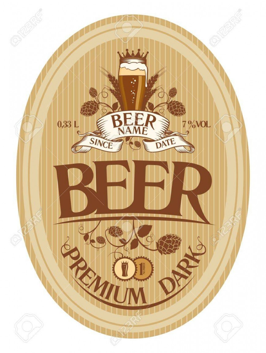 001 Top Beer Label Design Template High Def  Free868