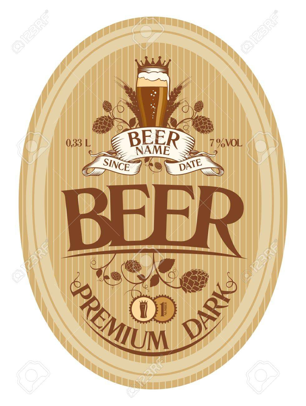 001 Top Beer Label Design Template High Def  FreeFull