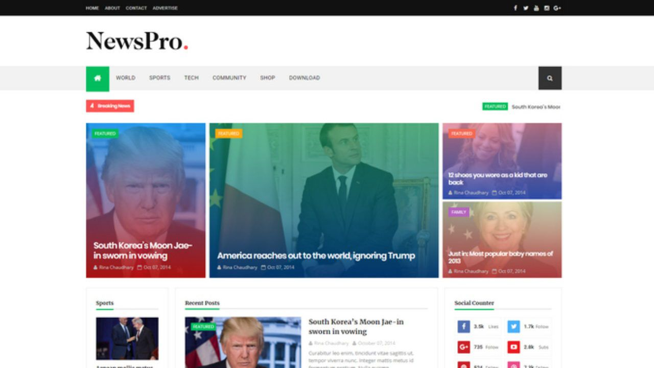 001 Top Best Free Responsive Blogger Template 2018 Example Full