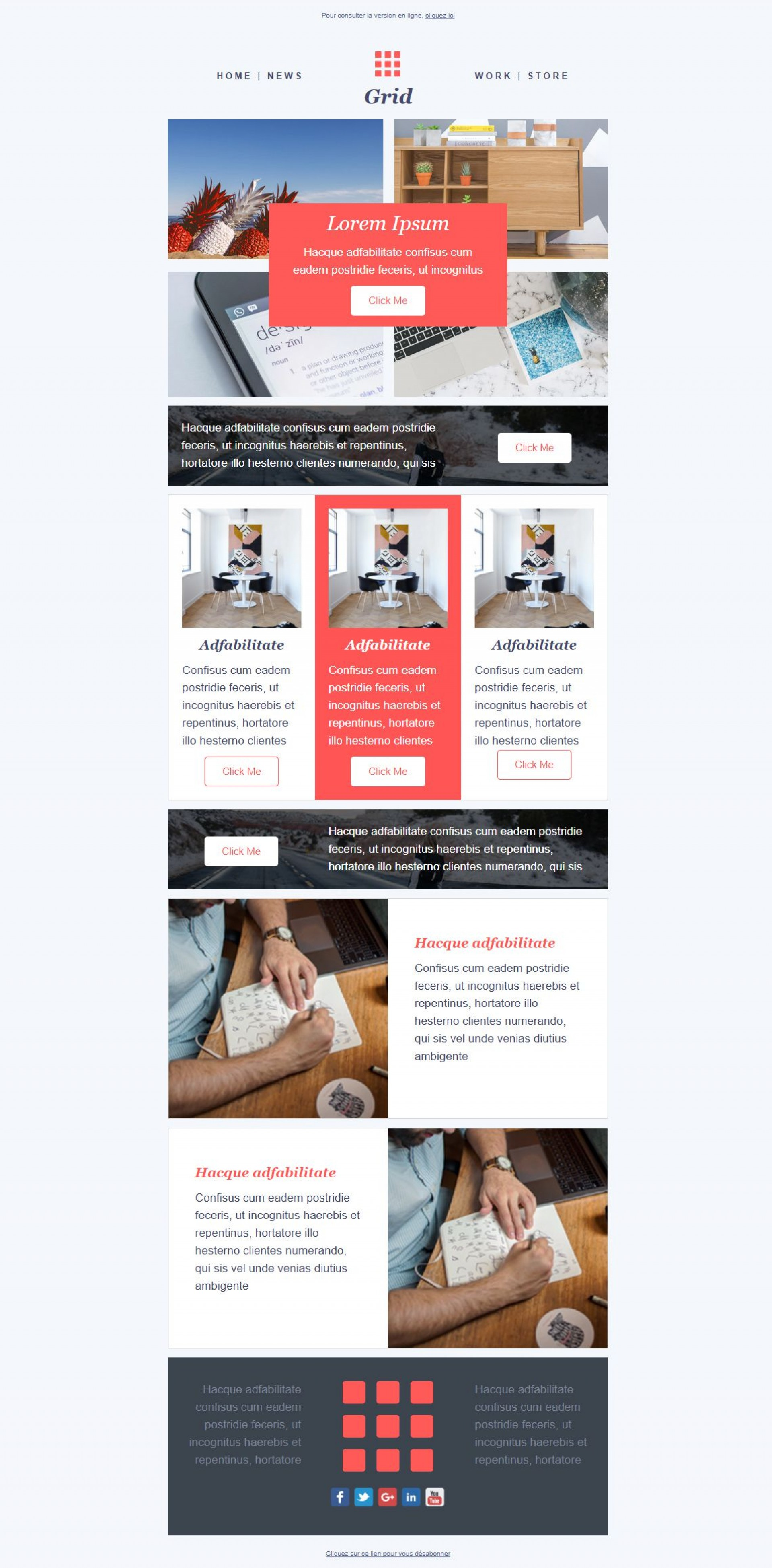 001 Top Email Newsletter Template Free Download Concept  Html Busines1920