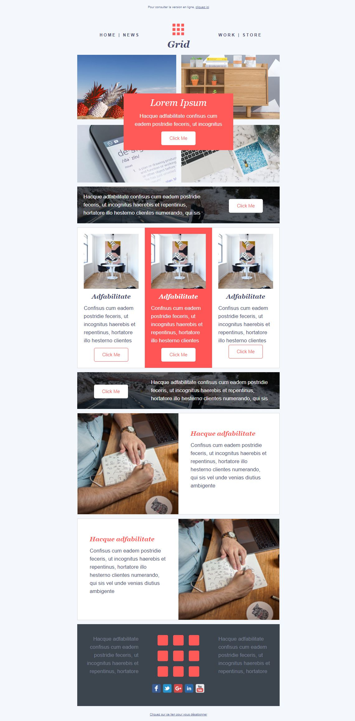 001 Top Email Newsletter Template Free Download Concept  Html BusinesFull