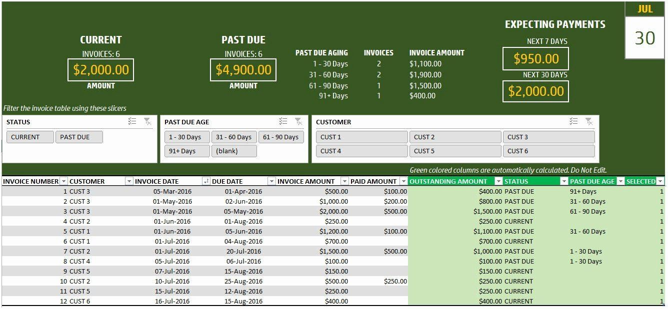 001 Top Excel Invoice Tracking Template Download Design Full