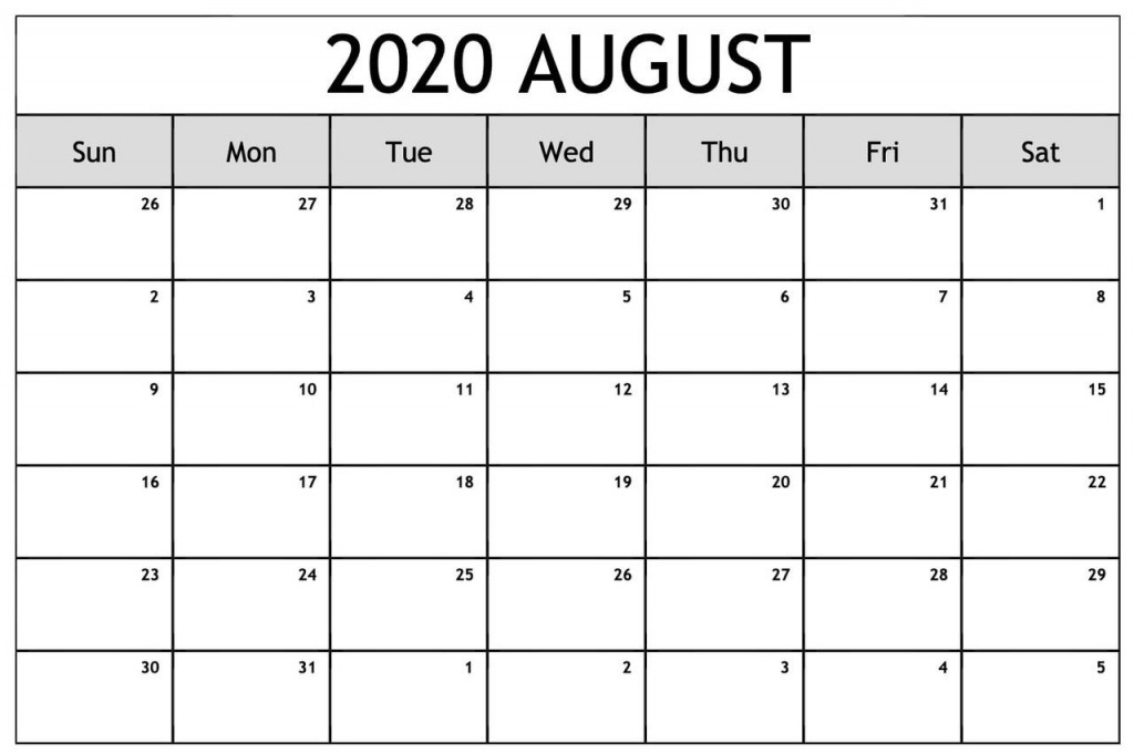 001 Top Free 2020 Calendar Template Example  Templates Monthly Excel Download Printable MayLarge