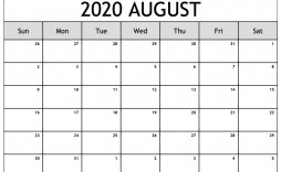 001 Top Free 2020 Calendar Template Example  Templates Monthly Excel Download Printable May