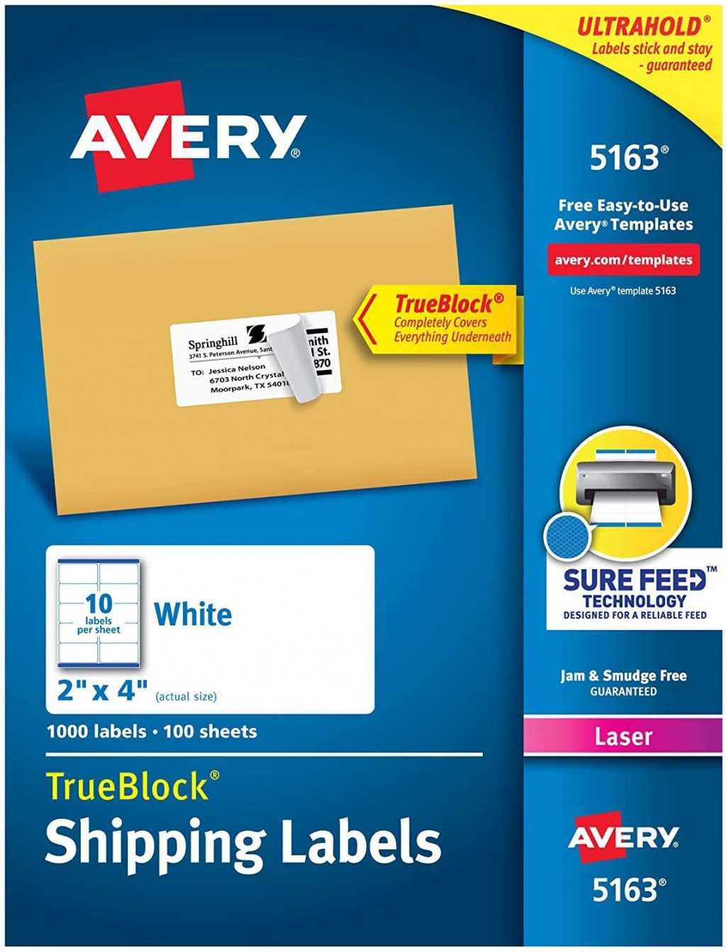 001 Top Free Avery Mailing Label Template Image  Templates Addres For Mac 8160 5163Large
