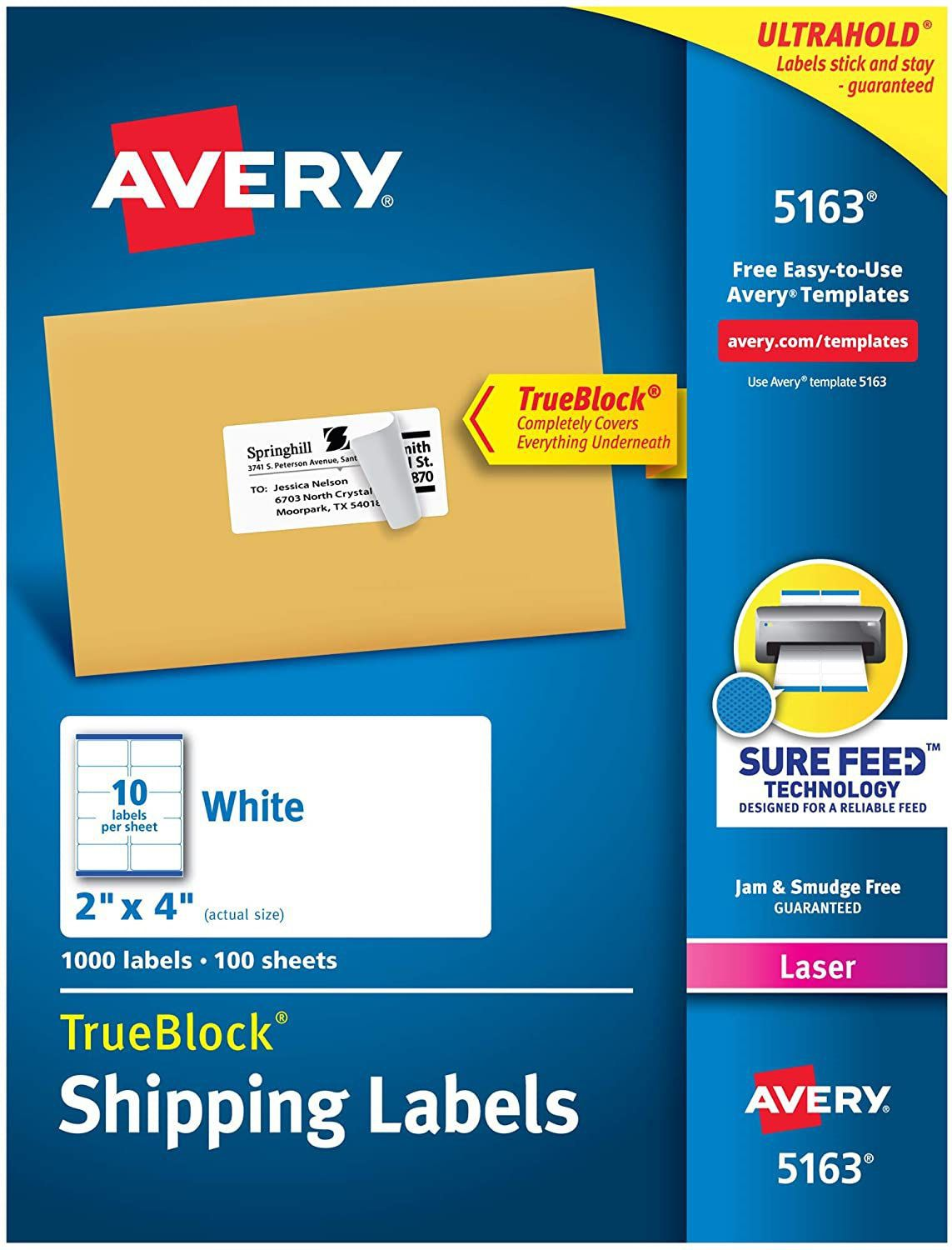 001 Top Free Avery Mailing Label Template Image  Templates Addres For Mac 8160 5163Full