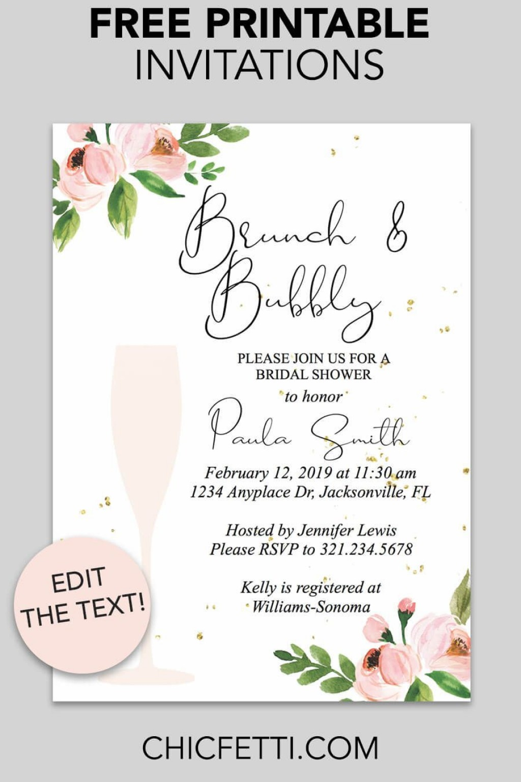 001 Top Free Bridal Shower Invite Template High Definition  Templates Invitation To Print Online Wedding For Microsoft WordLarge