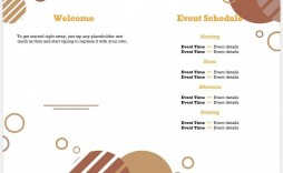 001 Top Free Event Program Template Picture  Schedule Psd Word