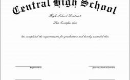 001 Top Free High School Diploma Template Image  Templates Print Out Editable Printable