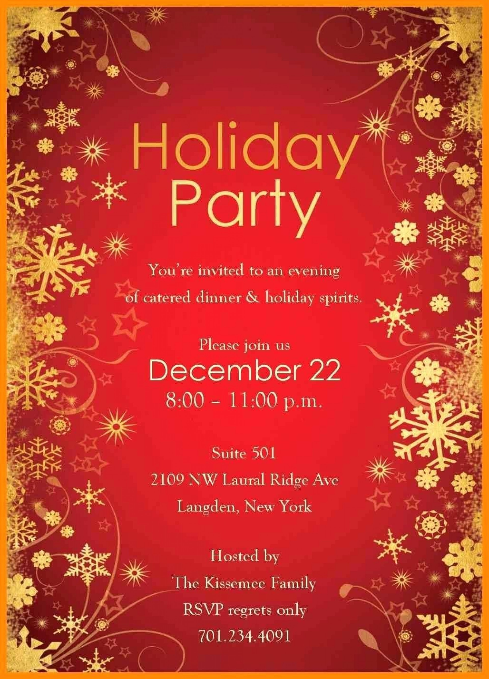 001 Top Free Holiday Party Flyer Template Word High Resolution 1920