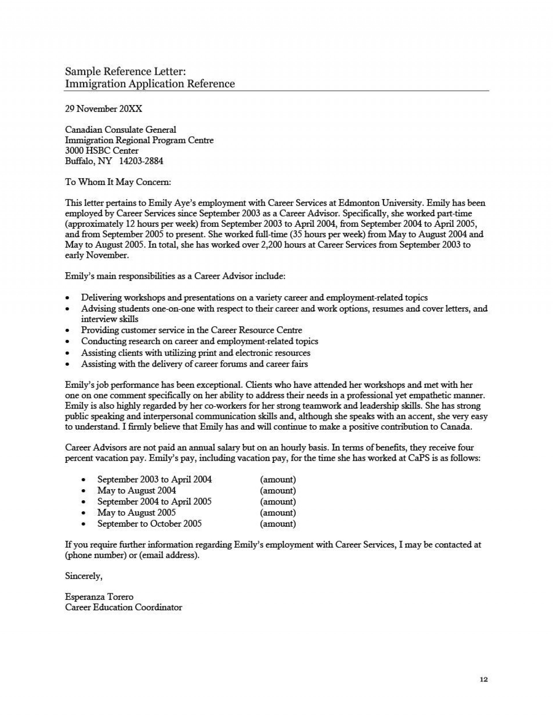 001 Top Free Reference Letter Template For Employment Concept  Word1920