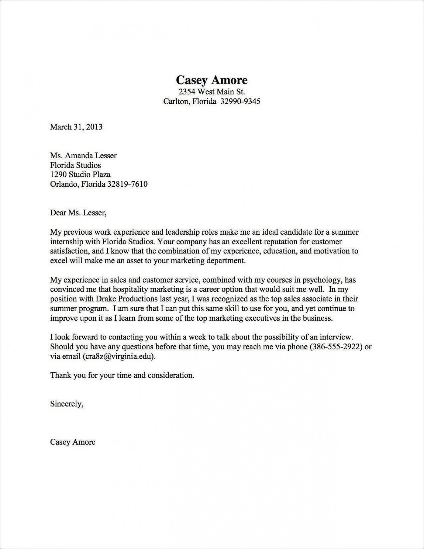 001 Top Good Cover Letter Template Example Design  Sample Nz Free1400