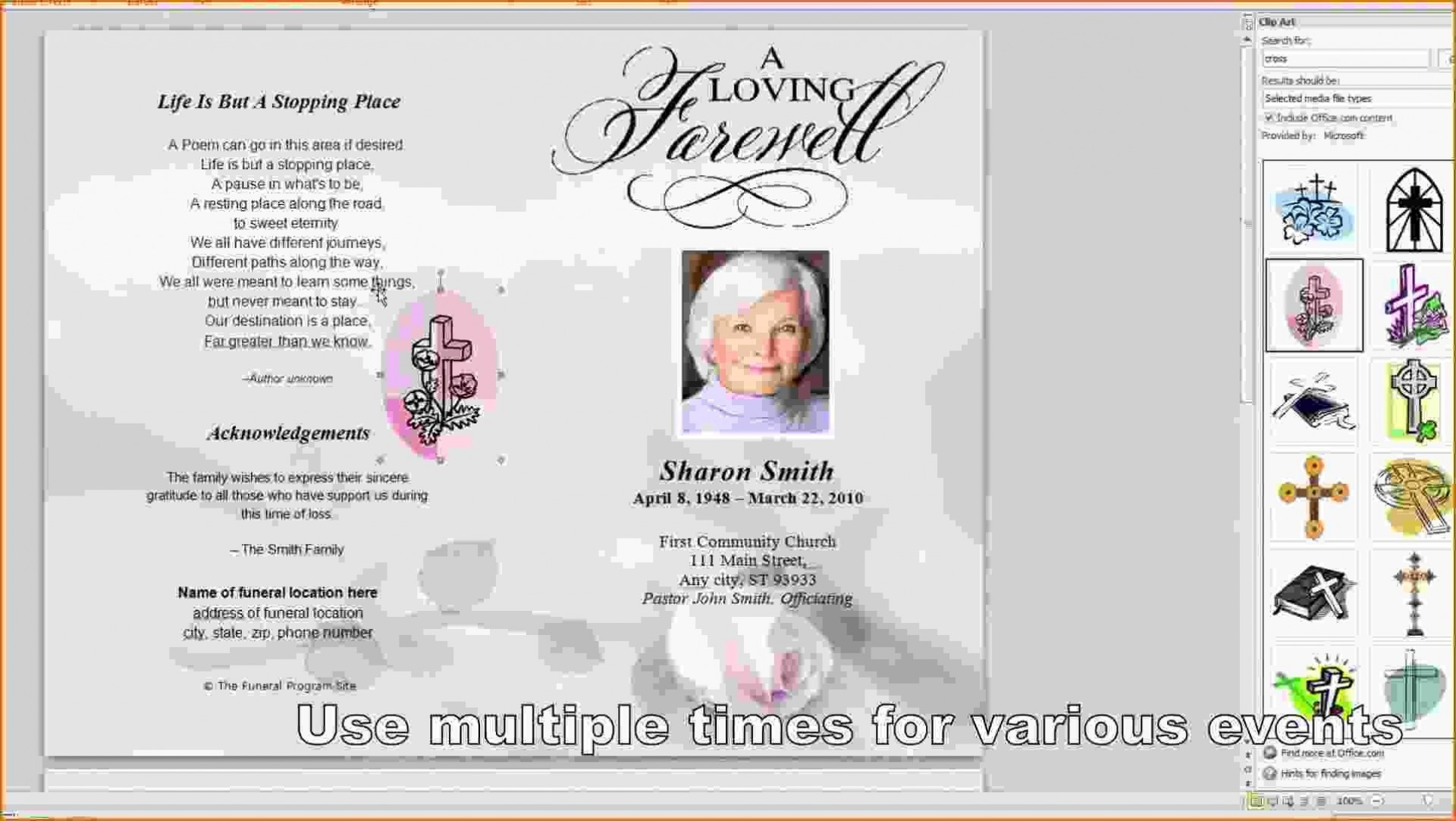 001 Top Memorial Card Template Free Download Concept 1920