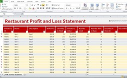 001 Top Profit Los Template Excel High Definition  Simple Monthly And Statement Download