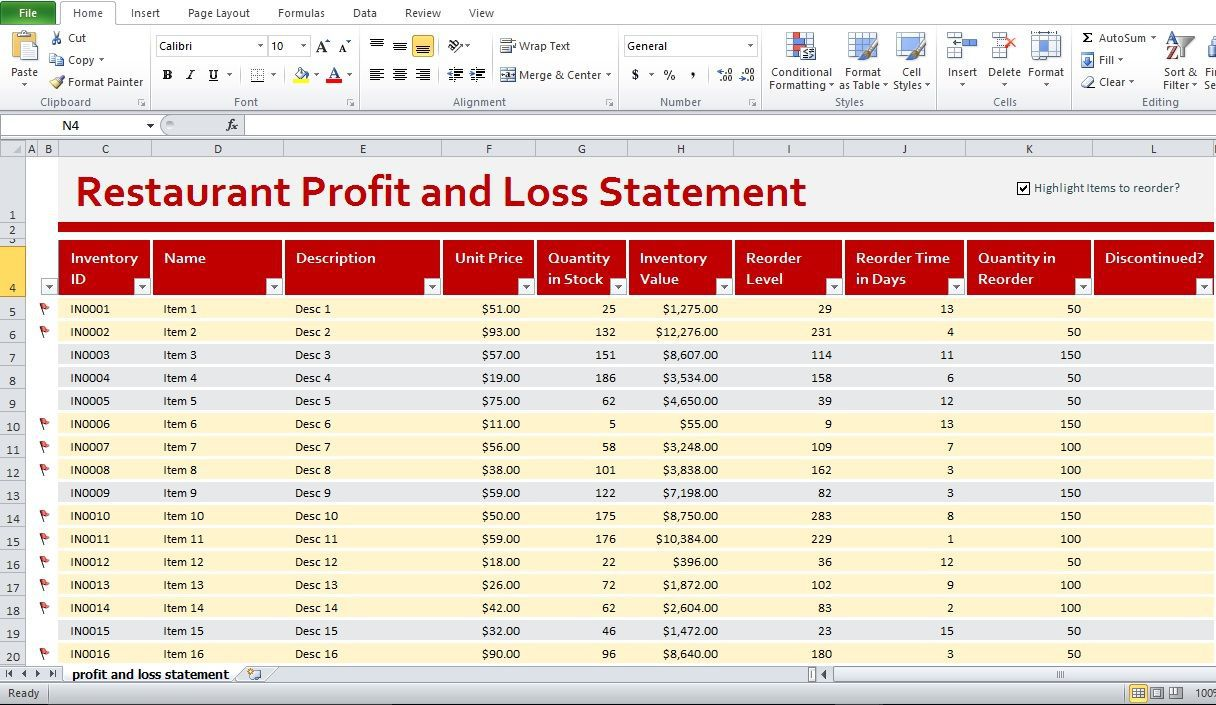 001 Top Profit Los Template Excel High Definition  Simple Monthly And Statement DownloadFull