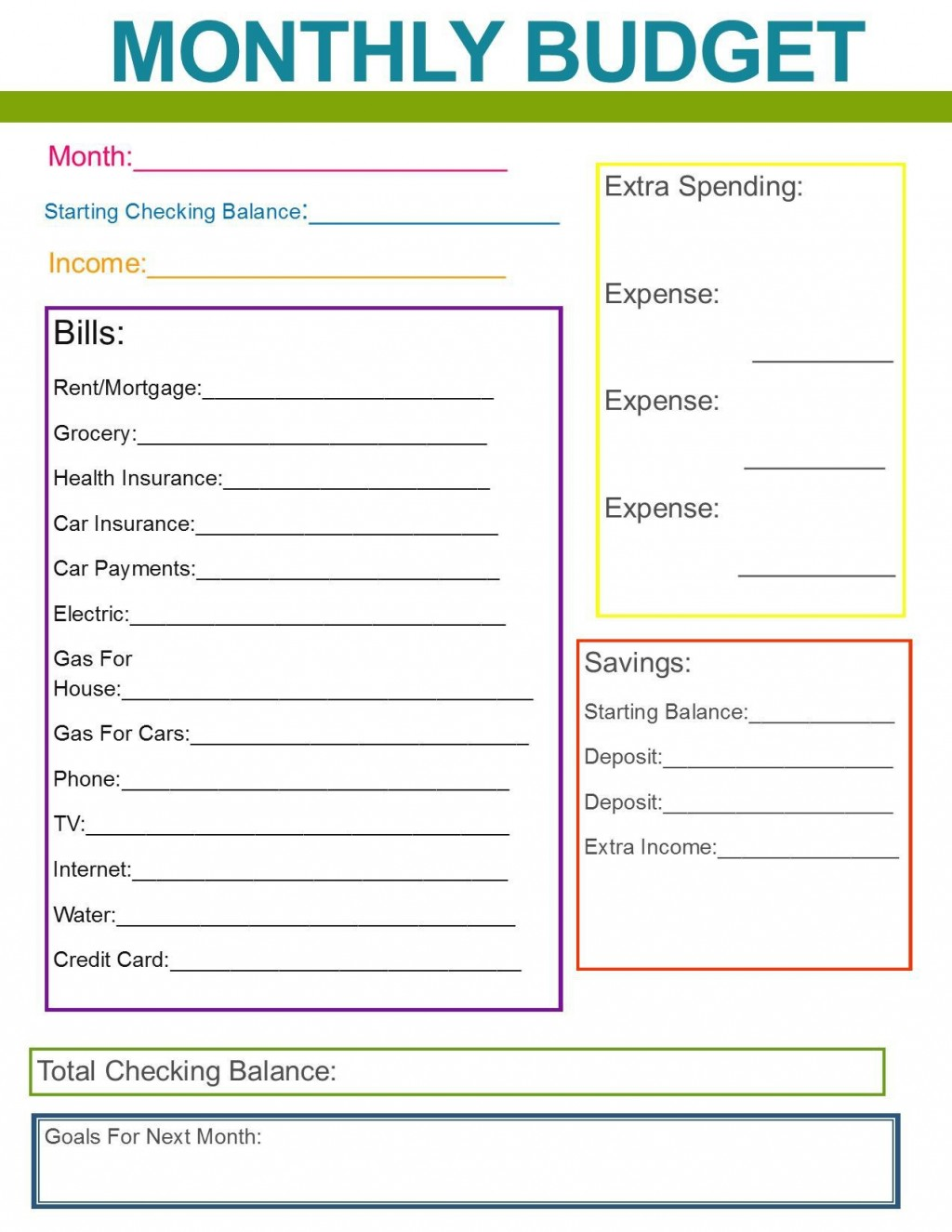 001 Top Simple Household Budget Template Image  Excel Google Sheet Home FormLarge