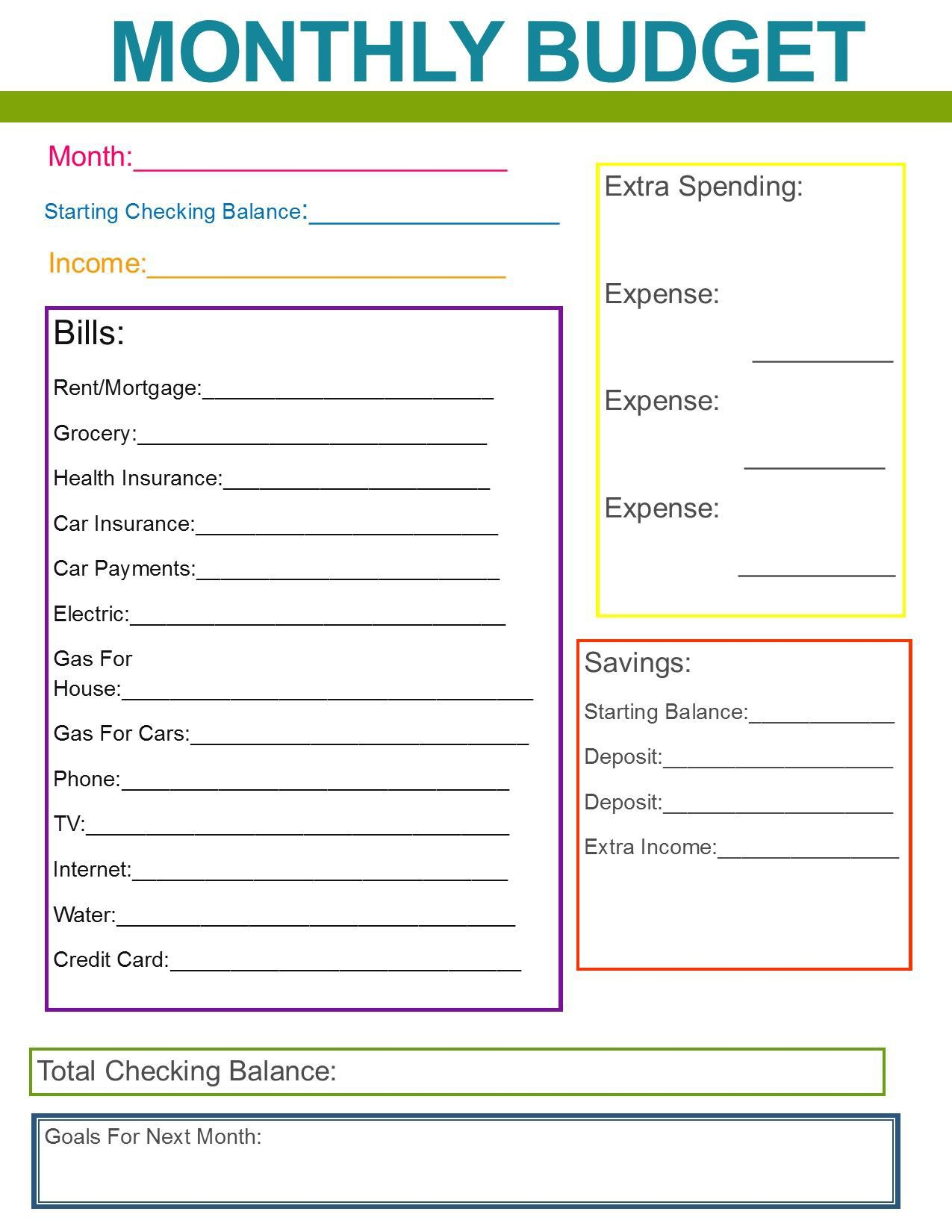 001 Top Simple Household Budget Template Image  Excel Google Sheet Home FormFull