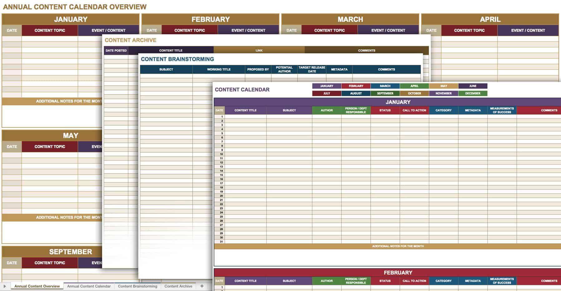 001 Top Social Media Editorial Calendar Template Inspiration  Content Excel 2020 Free DownloadFull
