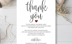 001 Top Thank You Note For Wedding Guest Template Photo  Card