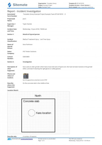 001 Top Workplace Incident Report Form Template Nsw Inspiration 360
