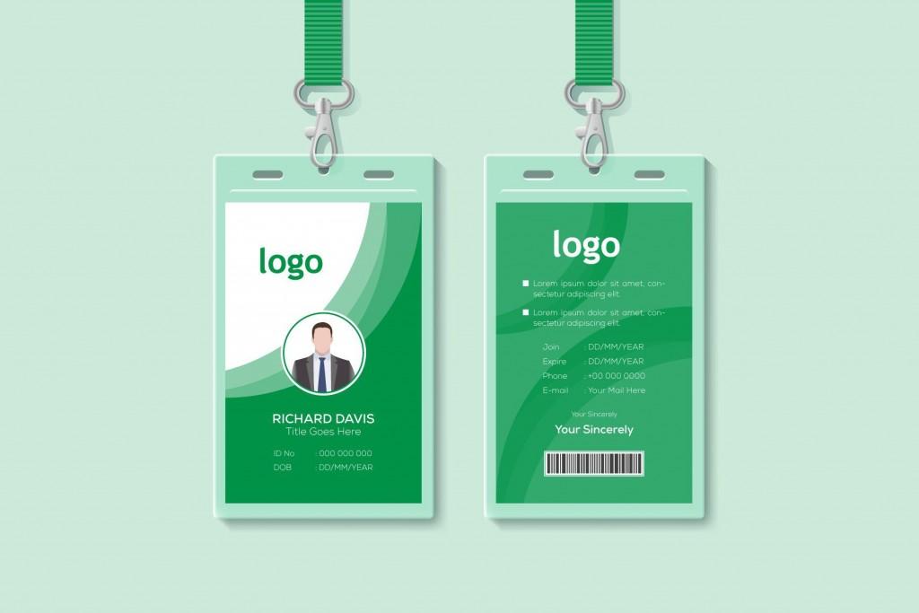 001 Unbelievable Employee Id Card Template Idea  Free Download Psd WordLarge