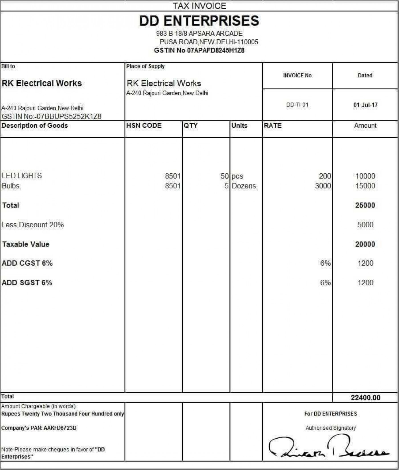 001 Unbelievable Excel Invoice Template Gst Free Download High Definition 1400