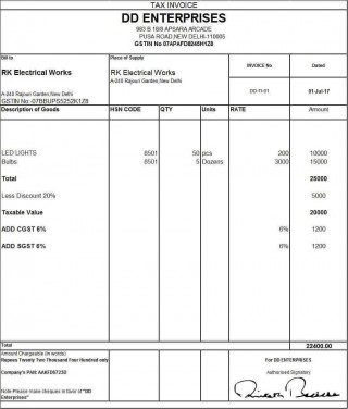 001 Unbelievable Excel Invoice Template Gst Free Download High Definition 320