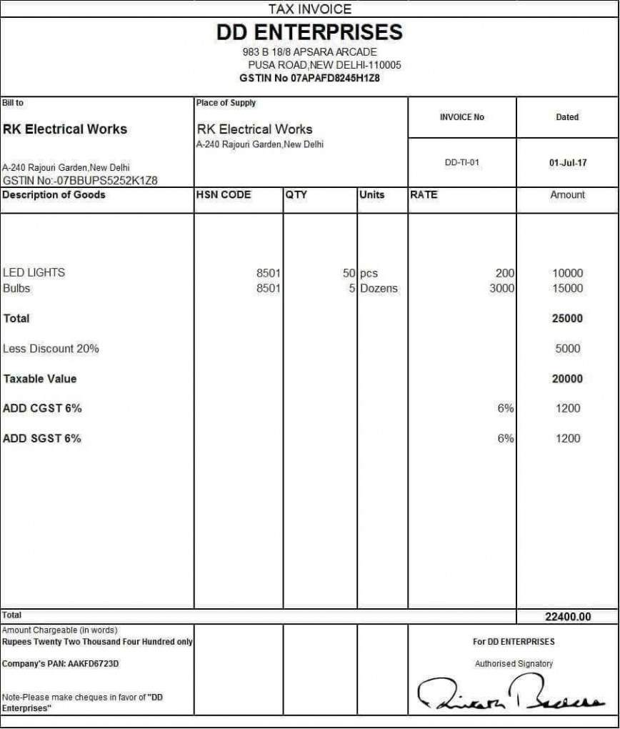 001 Unbelievable Excel Invoice Template Gst Free Download High Definition 868