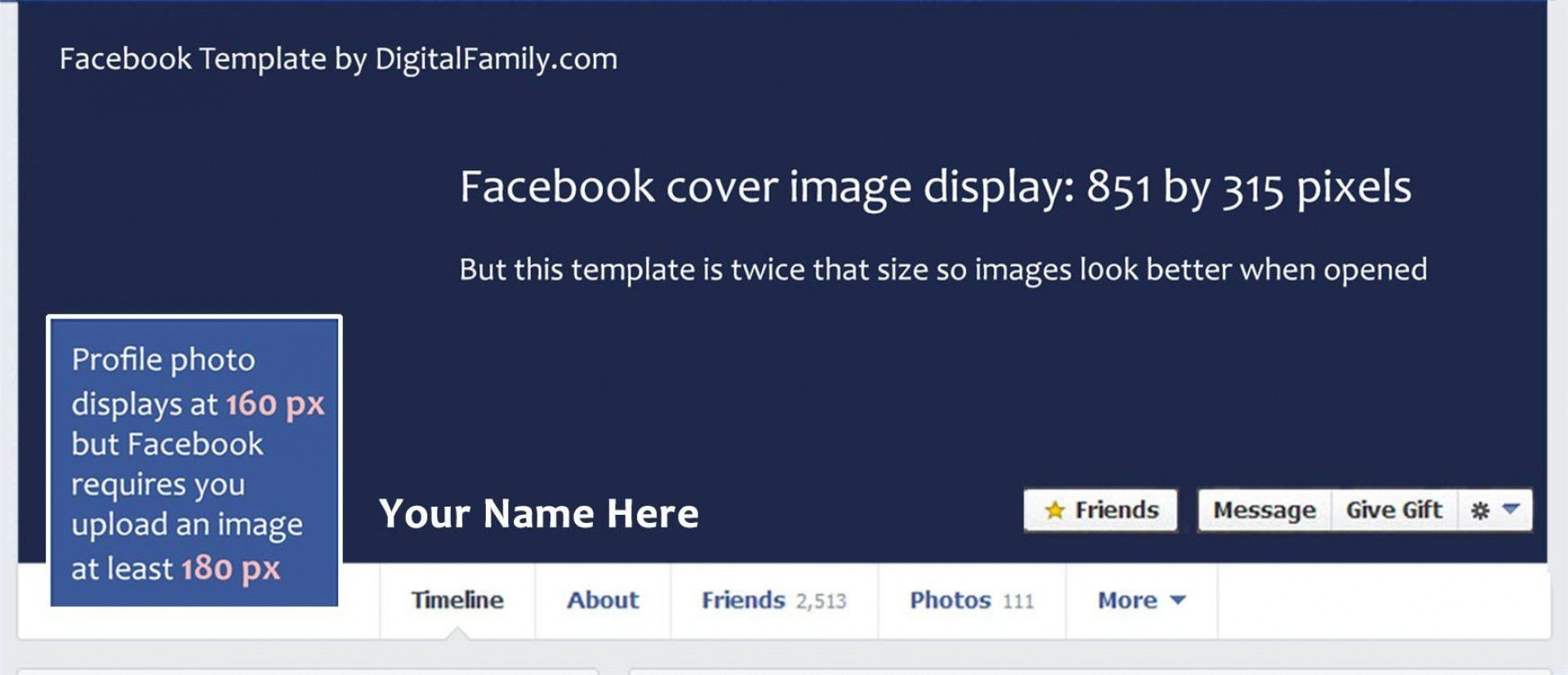 001 Unbelievable Facebook Cover Photo Photoshop Template Inspiration  2019 Page Profile Picture Size1920