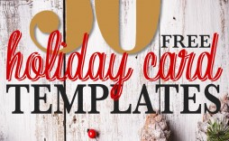 001 Unbelievable Free Holiday Card Template Sample  Templates Printable Photo For Word