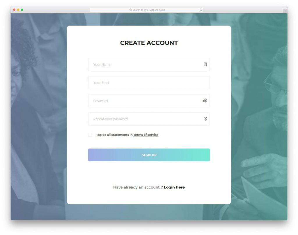 001 Unbelievable Free Html Form Template Sample  Templates Survey Application Download RegistrationLarge