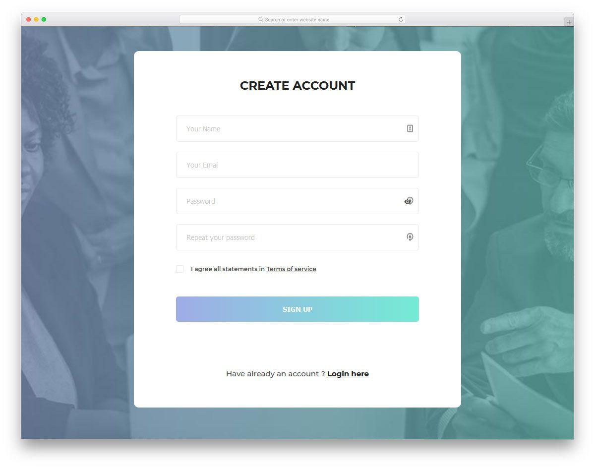 001 Unbelievable Free Html Form Template Sample  Templates Survey Application Download RegistrationFull