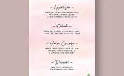 001 Unbelievable Free Wedding Menu Template Highest Clarity  Templates Printable For Mac