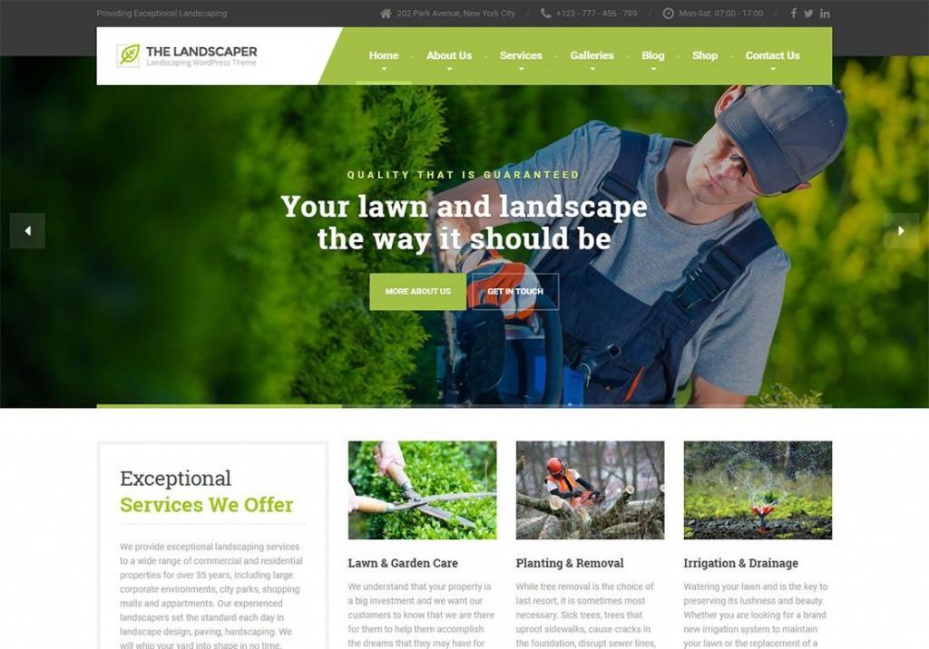 001 Unbelievable Lawn Care Website Template High Definition Large