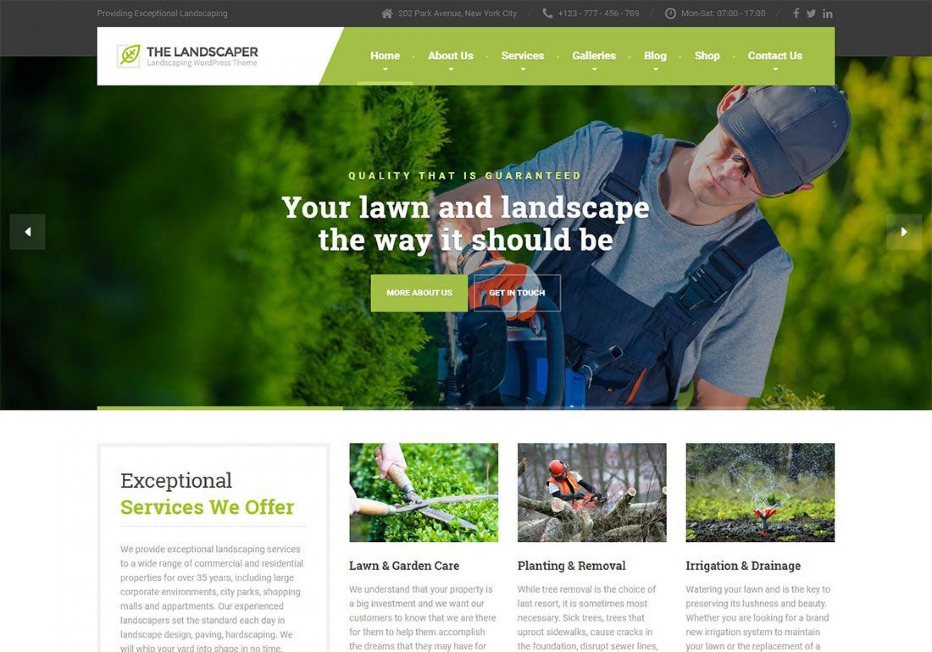 001 Unbelievable Lawn Care Website Template High Definition 1920