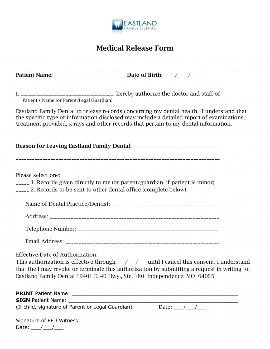 001 Unbelievable Medical Release Form Template Example  Free Consent Uk For MinorLarge