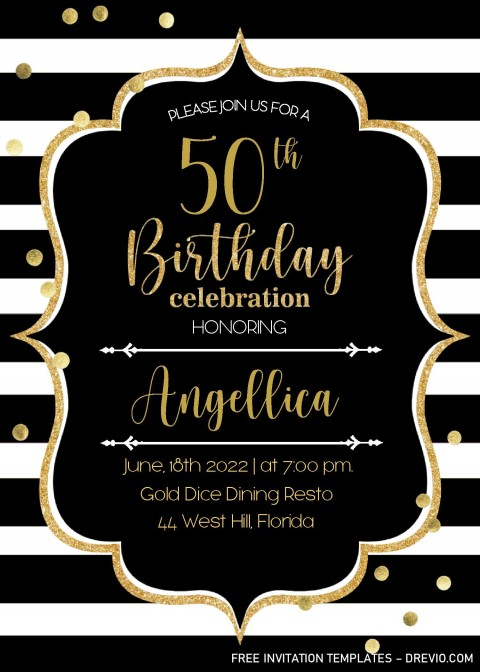 001 Unbelievable Microsoft Word 50th Birthday Invitation Template High Def  Editable Wedding Anniversary480